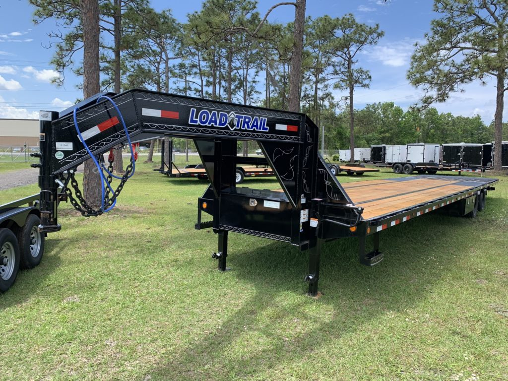 Load Trail 8.5 by 40 ft gooseneck equipment trailer with 10,000 lb hydraulic dove